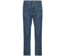 'Moto' Cropped-Jeans