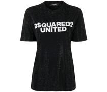 Verziertes T-Shirt mit Logo