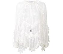 frill sheer blouse