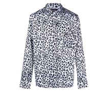 leopard print long-sleeve shirt