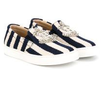 Gestreifte Slip-On-Sneakers