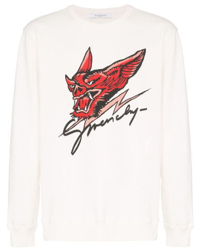 Sweatshirt mit Drachenkopf-Print