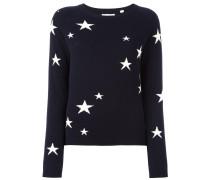Kaschmirpullover mit Sternenmuster