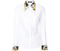 floral trim shirt