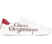 "Sneakers mit ""Orgasmique""-Print"