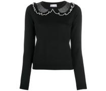 Pullover mit transparenten Streifen