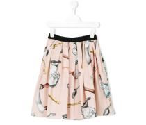 - printed skirt - kids - Baumwolle - 4 J.