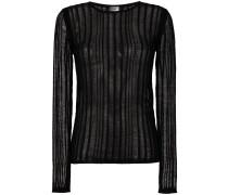 ladder stitch stripe sweater