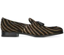 Loafer mit Zebra-Print