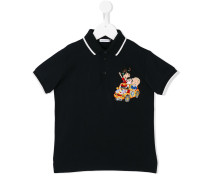 "Poloshirt mit ""Family""-Patch"