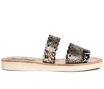 Akela snake-effect sandals