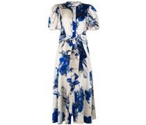 Ophelia floral-print silk dress