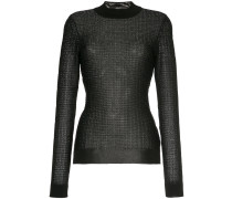 metallic fitted jumper