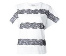 T-Shirt mit Spitzendetails