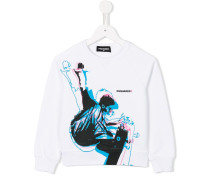 Sweatshirt mit Skater-Print