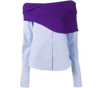 Gestreifte Bluse in Hemd-Optik