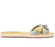 'Heli' Sandalen mit tropischem Print