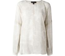 sheer printed blouse