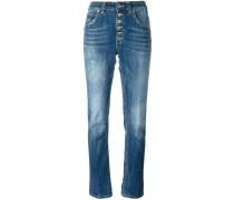 Geknöpfte Jeans mit geradem Bein