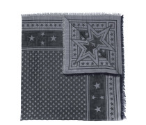 stars embroidered scarf