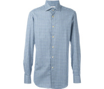 checked print shirt