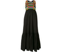 Kleid mit gewebtem Top