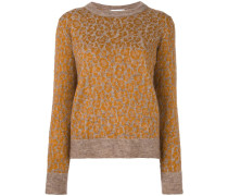 Wollpullover mit Animal-Print