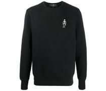 Sweatshirt mit Totenkopf-Patch