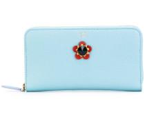 Portemonnaie mit Blumenapplikation