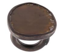 Kupferring mit schwarzem Achat