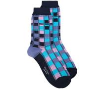- Socken mit bunten Karos - women