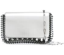 Schultertasche im Metallic-Look - women - Leder