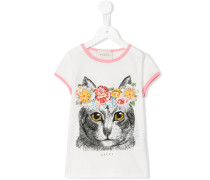 T-Shirt mit Katzen-Print - kids - Baumwolle - 4