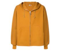boxy zip front hoodie