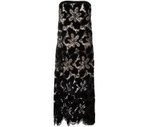 Camisole-Abendkleid mit floralem Muster