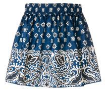 paisley print mini skirt