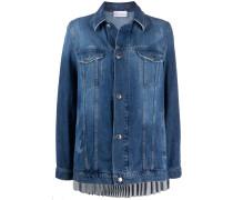 Jeansjacke mit Falten