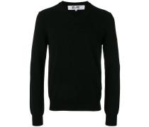 Woll-Sweatshirt mit Herz-Patch