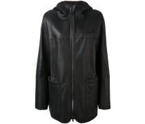 Oversized-Jacke aus Nappaleder