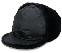 fur-lined cap