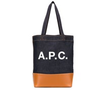 A.P.C. Jeans-Shopper mit Logo