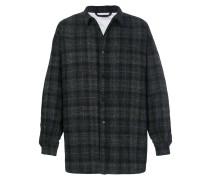 tartan print padded shirt coat