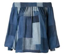 off the shoulder panelled blouse