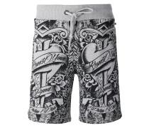 Shorts mit Tattoo-Print - men - Baumwolle - XL