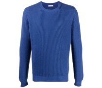 crew-neck ribbed-knit jumper