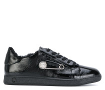 safety pin lace-up sneakers