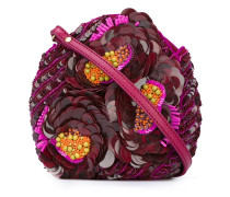 sequinned flowers clutch