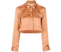 satin cropped jacket