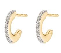 18kt Goldcreolen mit Diamanten