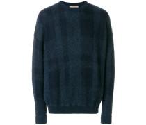 Karierter Pullover mit rundem Ausschnitt